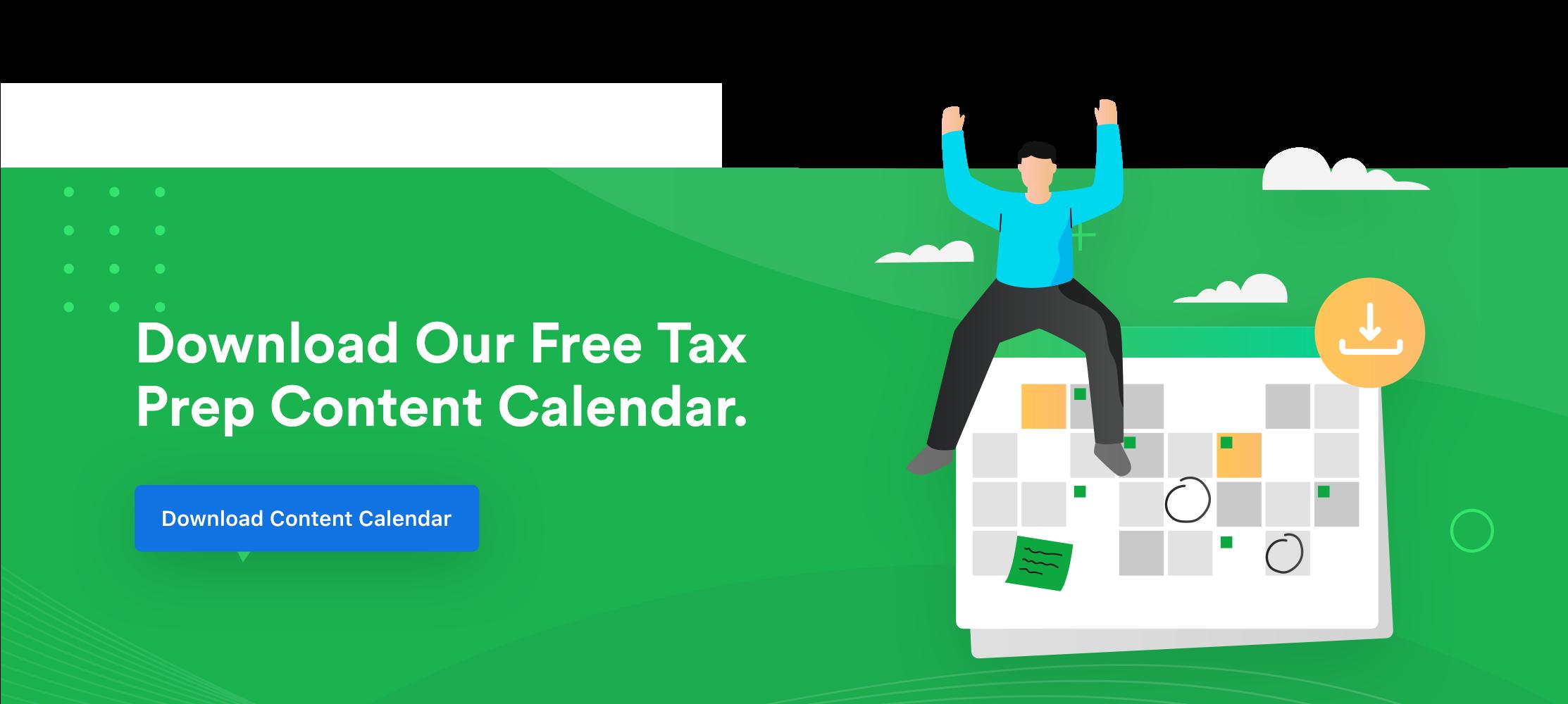 Tax Content Calendar Banner