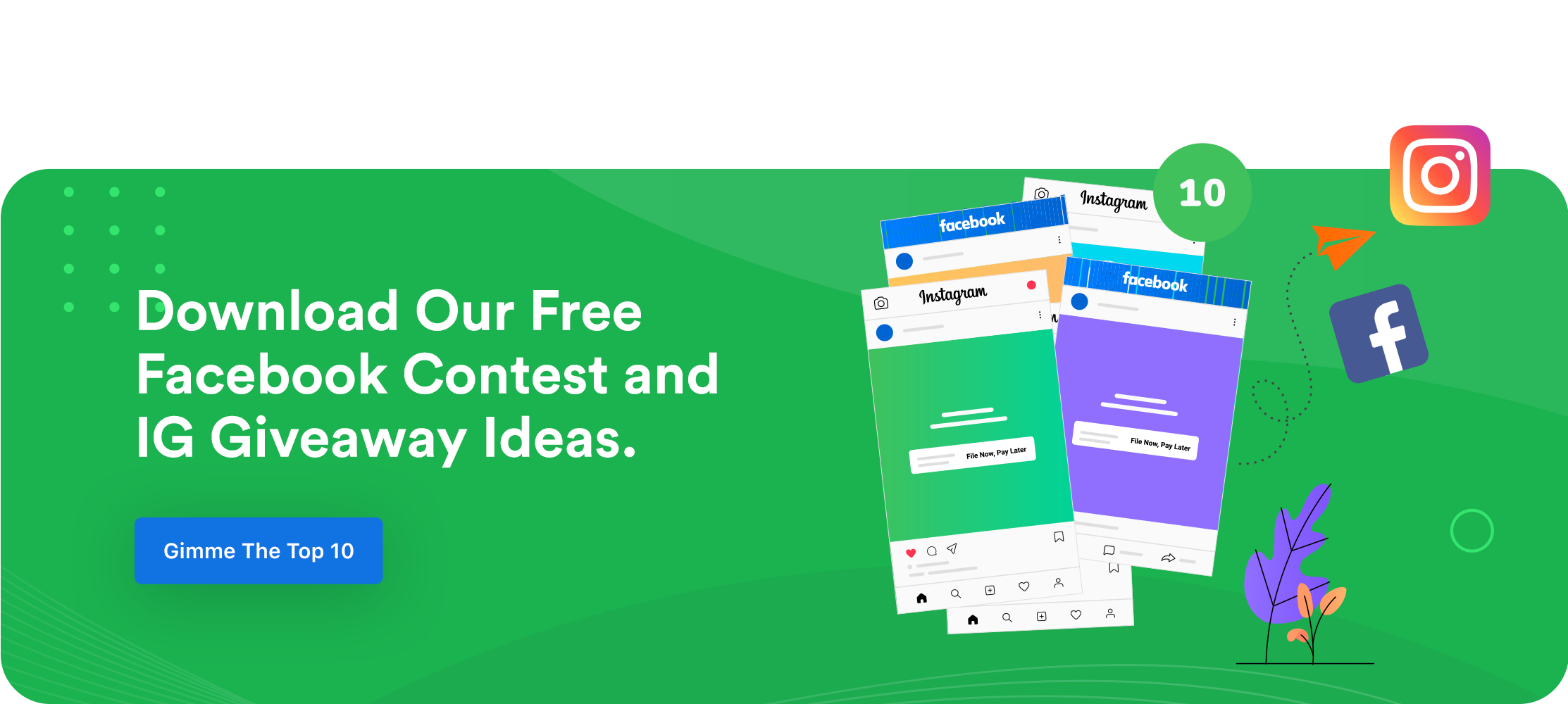 Tax Office Facebook Contest and IG Giveaway Ideas