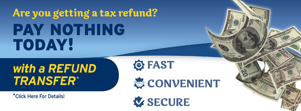Refund-Transfer No Upfront Payment