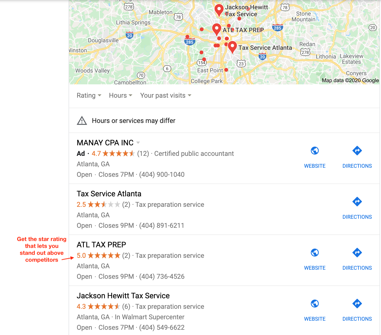 Star Ratings For Google Reviews