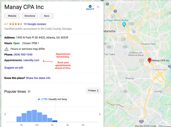 Google My Business Profile For Tax Businesses