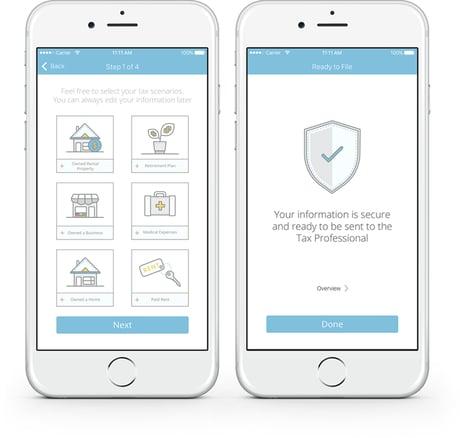 Connect Mobile App: Choose Tax Scenarios